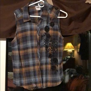 Harley Davidson Sleeveless button up  shirt
